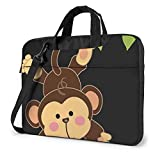 XCNGG Bolsa para portátil a Prueba de Golpes Cute Monkey Computer Bag Funda Duradera Funda 360 & iexcl; & Atilde; Maletín Protector de cojín para portátil