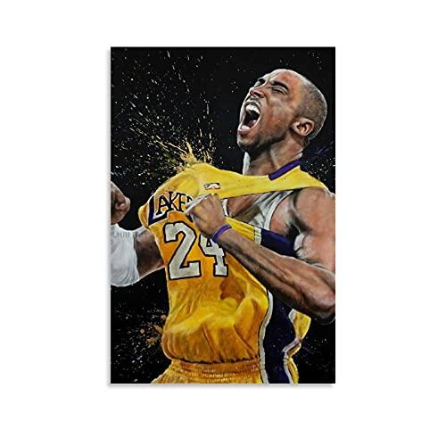 Ghychk - Poster di pallacanestro Superstar Kobe-Bean-Bryant, pittura astratta moderna per la decorazione delle pareti domestiche, 30 x 45 cm