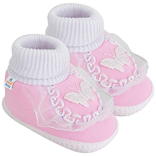 Neska Moda Baby Girls Booties For 6 To 12 Months (Pink)