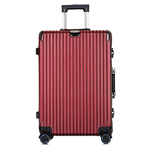 Box PC Valigia, Trolley Business Caso, Antifurto, Serratura doganale, Boarding Fashion Student Lever, 20,24 pollici Box, Rosso (Rosso) - ngsen