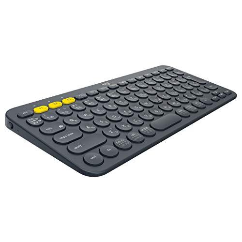ロジクール ワイヤレスキーボード 無線 キーボード 薄型 小型 K380BK Bluetooth K380 ワイヤレス マルチOS:...