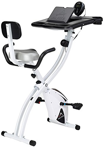 ALINCO(アルインコ) フィットネスバイク ながらバイク4518 折りたたみ 背もたれ付き デスク付き 負荷8段階 ...
