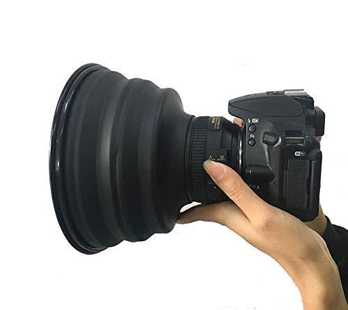 レンズフード シリコン フード ラバーフード 折りたたみ式 カメラ 反射防止 カメラマン 窓撮影 カメラ対応 ...