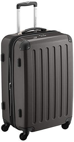 HAUPTSTADTKOFFER - Alex - Hartschalen-Koffer Koffer Trolley Rollkoffer Reisekoffer Erweiterbar, 4 Rollen, 65 cm, 74 Liter, Graphit