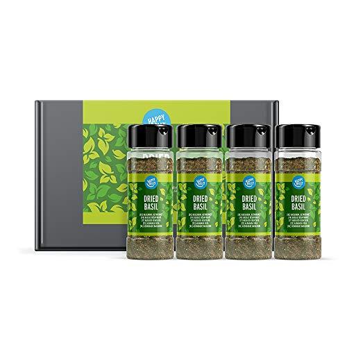 Amazon Brand - Happy Belly - Albahaca seca - 4x15g