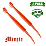 Minjie 2 pcs Citrus Peeler in Bright Orange Color - Replaces Tupperware Peeler Bright Orange