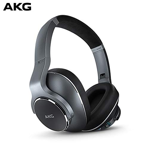 Samsung AKG N700NC Over-Ear Foldable Wireless Bluetooth Headphones, Active Noise Cancelling Headphones - Silver (US Version)