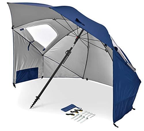 Sport-Brella Premiere UPF 50+ Umbrella Shelter for Sun and Rain Protection (8-Foot, Blue)