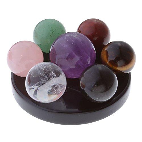 JOVIVI Seven Star Group Natural Amethyst Chakra Crystal...