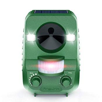 AngLink 2021 Nouvelle Répulsif Chat Ultrason Solaire Repulsif Chat Exterieur Ultrason Chat pour Repousser Animaux Nuisibles Protecteur de Jardin