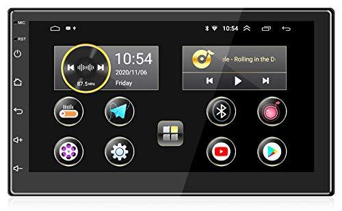 ANKEWAY 2021 Nouvelle 7 Pouces [2G + 16G] Android 10,1 Autoradio 2 DIN avec HiFi+WiFi+Bluetooth+RDS+FM+Navigation GPS, Système Multimédia Numérique Internet de Voiture à écran Tactile HD 1080P