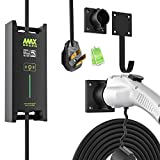 MAX GREEN Level 2 EV Charger (240V,25 feet) with Adjustable Current(16A,24A,32A),NEMA 14-50, Portable EVSE Electric Vehicle Charging Station with Timer