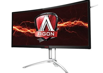 AOC Agon AG352UCG6 35' Curved Gaming Monitor, 1800R, Uwqhd 3440x1440 VA Panel, G-Sync, 120Hz, 4ms, DisplayPort/HDMI
