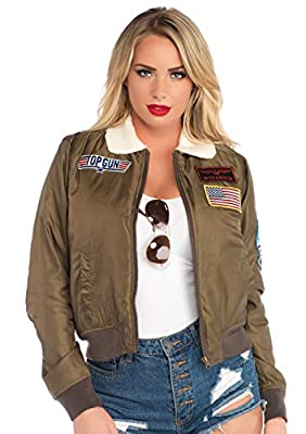 From Halloween to casual wear, the Official Top Gun Nylon Bomber Jacket is ready to go when you have a need for speed. Featuring a windbreaker nylon, plush collar, and interchangeable name badges Rep your fly squad with the official Top Gun badges, o...