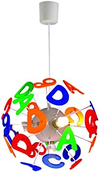 Diy Children Room Decorative Pendant Light Craftthink Ambient Light Kids Globe Letters Chandelier 15 75 Wide E14 110v Creative Light For Children S Room Bedroom Boys And Girls Living Room 4 Lights Amazon Com