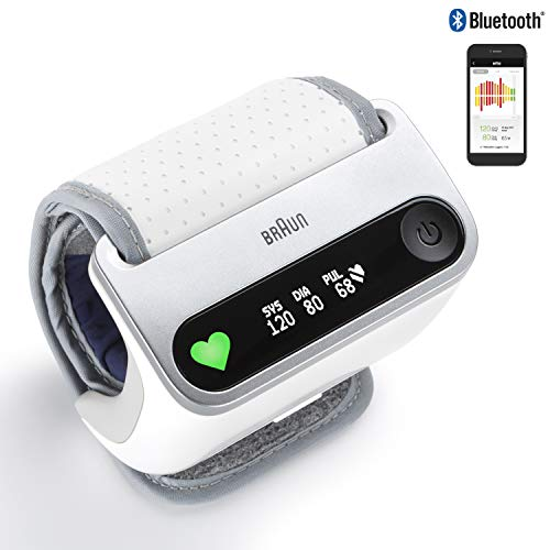 Braun iCheck 7 BPW4500WE - misuratore di pressione da polso per un monitoraggio intelligente e...