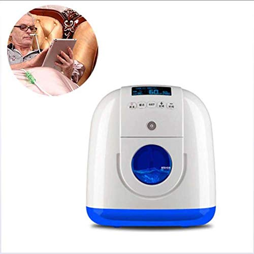 HANYF Small Oxygen Respirator for Home Use, 8-Stage Oxygen Filter / 1-7L Adjustable Large Flow Ventilator, Suitable for Car/Household