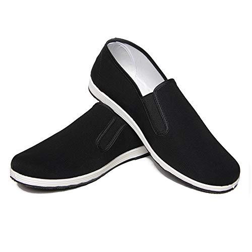 Zapatos de Artes Marciales Unisex Zapatos Chinos de Kung Fu Zapatos Antiguos de Tai Chi de Beijing Suela de Goma Negra (43 EU 265 mm)