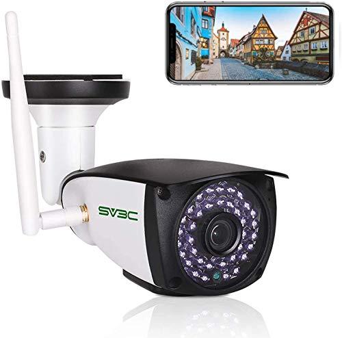 SV3C HD 5MP Videocamere di Sorveglianza Esterno Wi-Fi Telecamera IP wifi con Rilevamento del Movimento, Audio Bidirezionale, Visione Notturna, IP66, Vista a Distanza Via Phone/Tablet/Windows