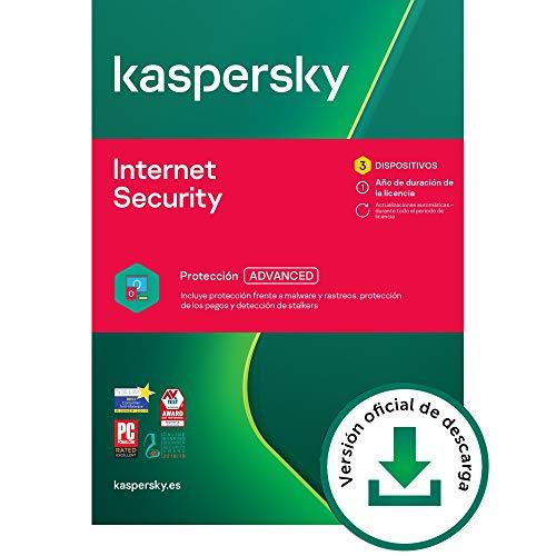 Kaspersky Internet Security 2021 | 3 Dispositivos | 1 Año | PC / Mac / Android | Código de activación vía correo electrónico