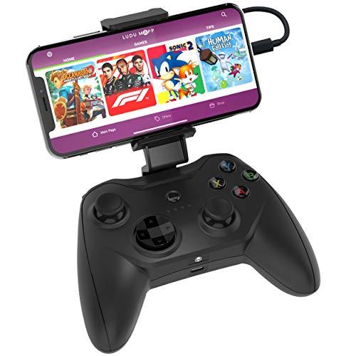 Rotor Riot Gaming Controller Joystick per Droni, Compatibile con Apple Arcade e Dispositivi iOS/iPhone Via Cavo Lightning, Pulsanti L3/R3 per Esperienza di Gioco Ottimale, Funziona con 1000+ App, Nero