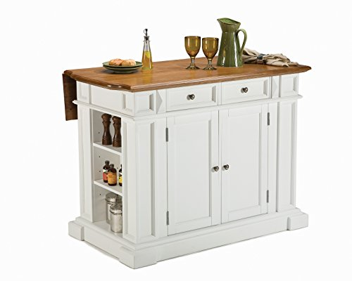 Americana White & Distressed Oak Kitchen Island by Home Styles
