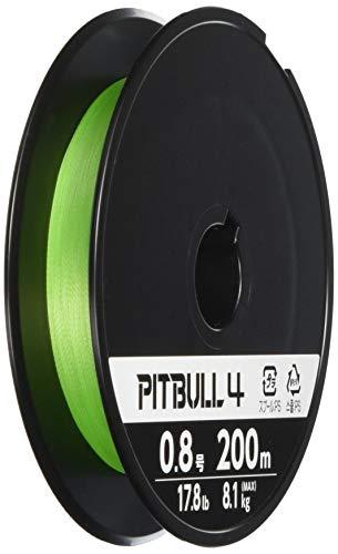 シマノ(SHIMANO) PEライン ピットブル 4本編み 200m 0.8号 ライムグリーン 17.8lb PL-M64R 釣り糸