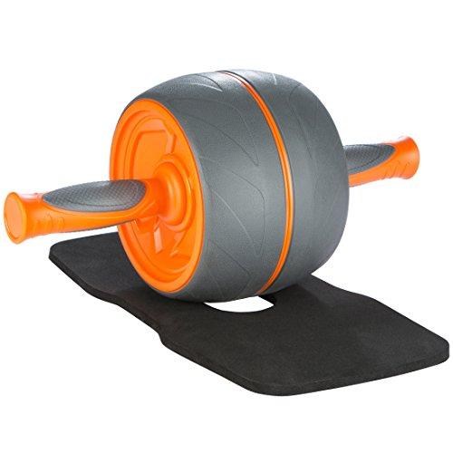 Ultrasport Trainer Addominali Premium AB, attrezzo Fitness da casa estramemente Stabile per allenare i Muscoli Addominali ma Anche Schiena e Spalle, Arancia