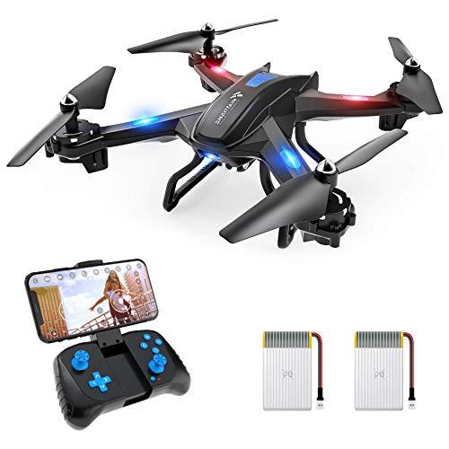 SNAPTAIN S5C Drone con Telecamera 720p HD FPV, Compatibile con VR Box, Quadricottero WiFi un Pulsante Decollo e Atterraggio, G-sensore, 3D Flip, Funzione di Hovering, Adatto per Principianti e Bambini