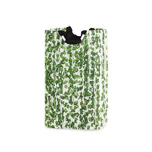 DYCBNESS Wäschesack,Künstliche Efeugirlande gefälschte Pflanzen grün für Hochzeitsfeier Garten im Freien Grün Wanddekoration,Wäschesammler Wäschekorb Faltbarer Aufbewahrungskorb