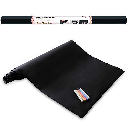 Ezigoo Carta Lavagna Adesiva - Adesivo Lavagna Rimovibile Memo da Parete- 60cm x 310cm con 5...