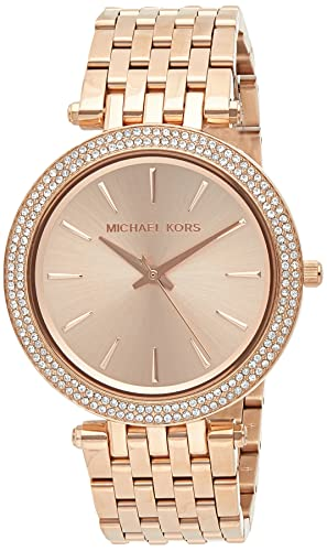 Michael Kors Damen Analog Quarz Uhr mit Edelstahl Armband MK3192