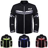 HWK Mesh Motorcycle Jacket Riding Air Motorbike Jacket Biker CE Armored Breathable (XXX-Large, Black)