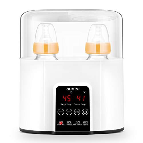 NUBITE-Baby-Bottle-Warmer-Milk-Warmer-Breastmilk-Warmer-Steamer-Baby-Food-Heater-Breastmilk-Defrost-Versatile-Double-Bottles-Heater-for-Infant-Formula-with-Smart-Temperature-Controller-BPA-Free