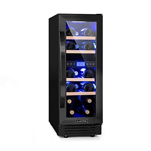 KLARSTEIN Vinovilla Onyx 17 - Frigorifero Vino, Cantinetta con Porta in Vetro, 53 L, 17 Bottiglie di...