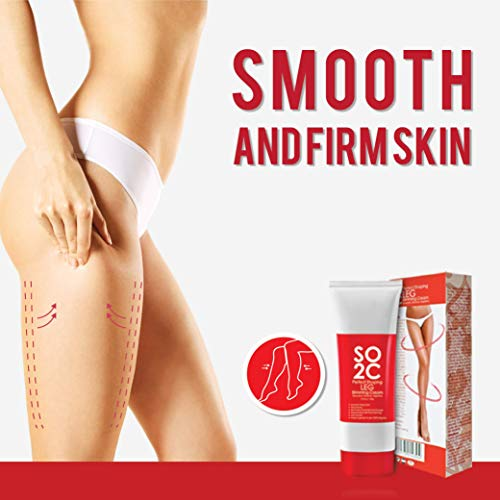 Anti Cellulite Remover Cream by SO2C | All-Natural Anti-Cellulite & Skin Firming, Tightening, Toning, Slimming & Thermogenic Cream | Tightening and Slimming for Legs, Thighs, Hip & Buttocks | Set of 3 7