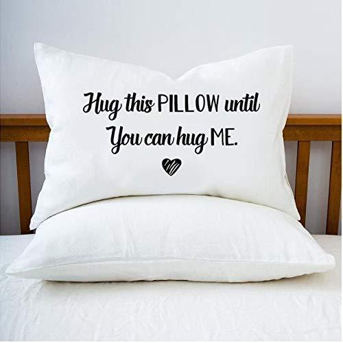 Hug This Pillow Until You can Hug me Going Away Gift Long...