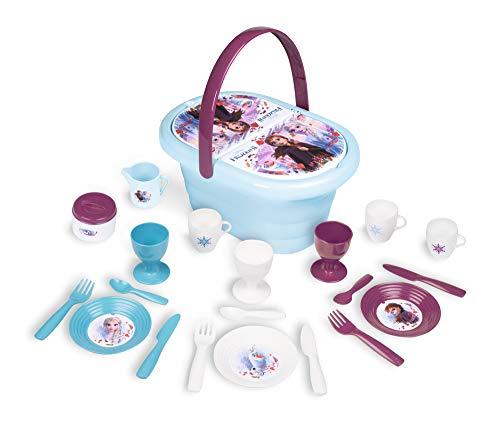 Frozen 2 Picknick-Korb, Disney Frozen Picknickset mit Geschirr, für Kinder ab 3 Jahren
