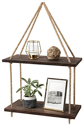 Mkono Wall Hanging Shelves Boho Decor Wood Window Shelf Rustic...