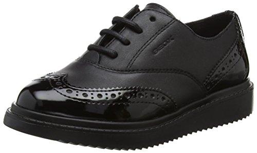 Geox J THYMAR Girl E, Zapatos de Cordones Oxford Mujer, Negro (Black), 41 EU