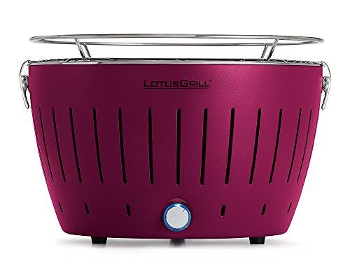LotusGrill - Barbacoa de carbón sin Humo Classic - Púrpura