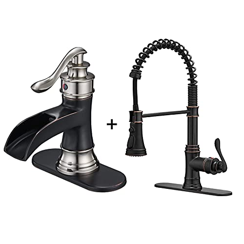 Kitchen Sink Faucet with Pull Out Sprayer 3 Spray Modes...