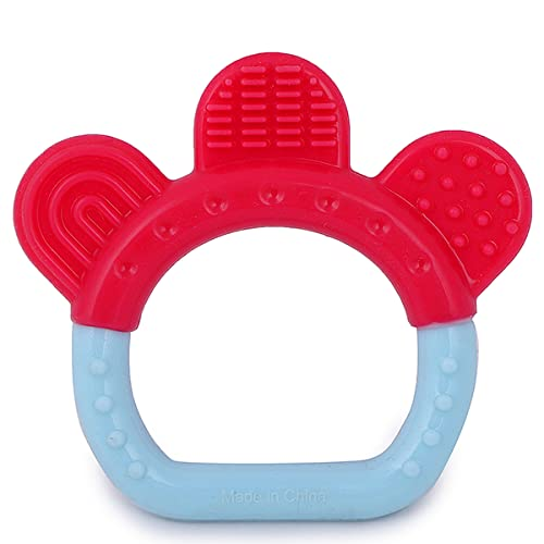 INFANTSO Non-Toxic Food-Grade Silicone Baby Teether Ring Shapes with Easy Grip BPA-Free for...