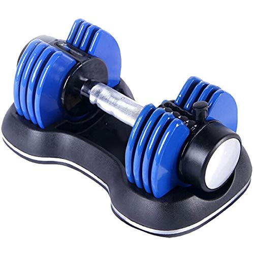 Strongology Home Fitness Single Adjustable Smart Dumbbell from 2kg to 11kg Training Weights in Blue