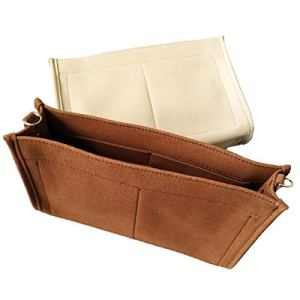 Tourdream Purse Organizer Insert Fit Toiletry Pouch 26 19 Handbag Shaper Premium Microfiber with Gold Buckles