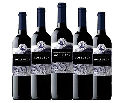 MOLLUSCA TINTO 2017. Vino tinto vegano. Variedad de uva: Manto Negro,Syrach, Merlot, Callet. D.O. PLA I LLEVANT. Pack de 6 botellas.
