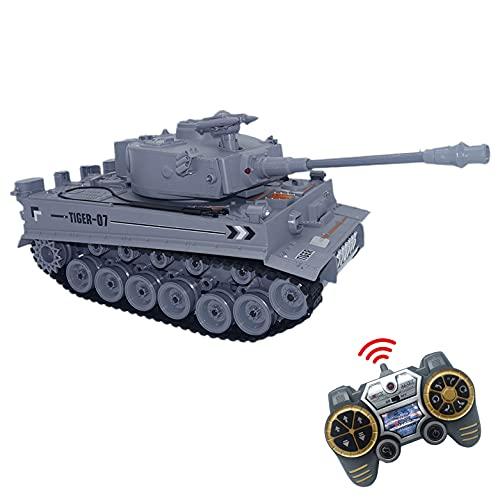 JUGUETECNIC  Carro Armato Telecomandato RC Tiger   Airsoft + Effetti sonori + Fumo + Figura Militare + Effetti   3 velocit Modello di carro Armato radiocomandato  Scala 1:18