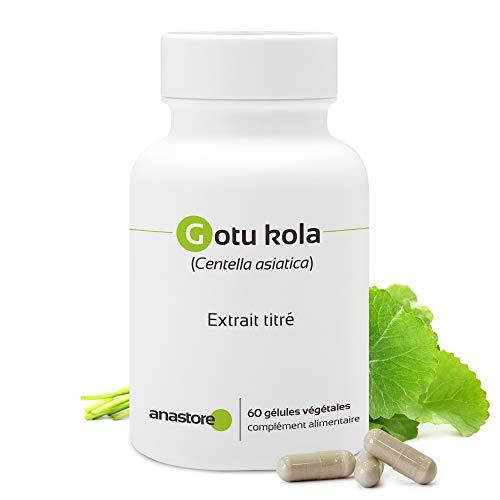 GOTU KOLA (CENTELLA ASIATICA) * 100 mg / 60 Kapseln * Tritrieter mit 20% Triterpenen, 8% Asiaticosiden und 5,5% Madecassosiden * Kardiovaskulär