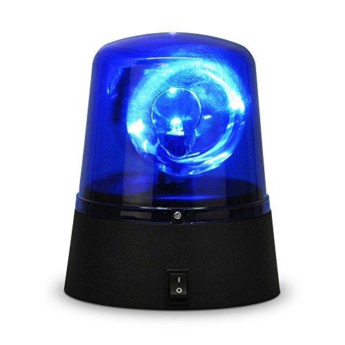 Ardisle - Lampada rotante a luce LED blu a forma di sirena della polizia per discoteche, feste, DJ set
