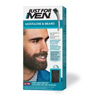 Just For Men Mustache & Beard, Beard Coloring for Gray Hair with Brush Included - Color: Deep Dark...
